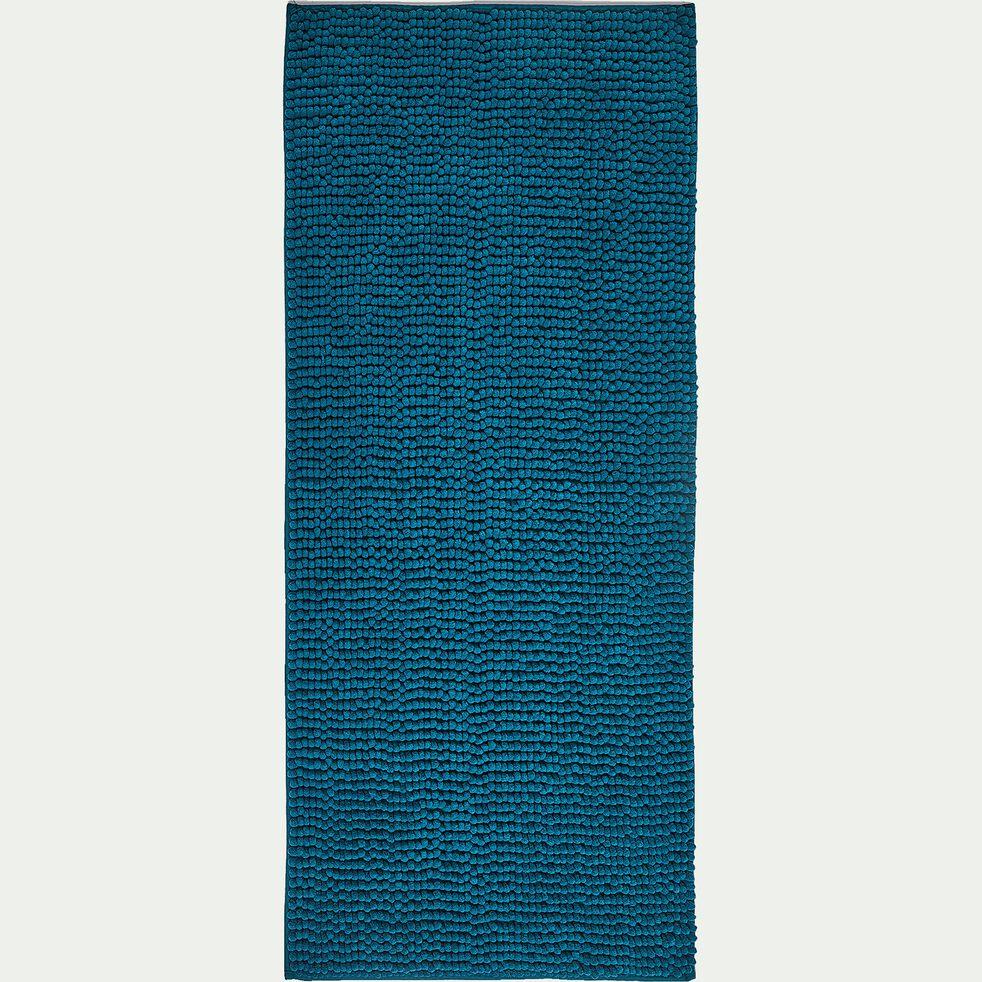 Tapis de bain chenille en polyester - bleu niolon 50x120cm-PICUS