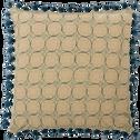 Coussin en coton écru 70x70cm-MOUCHA