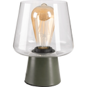 Lampe à poser en métal vert cèdre H21cm-BRIGIT