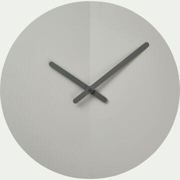 Horloge silencieuse en fer - vert olivier D35cm-ANOR