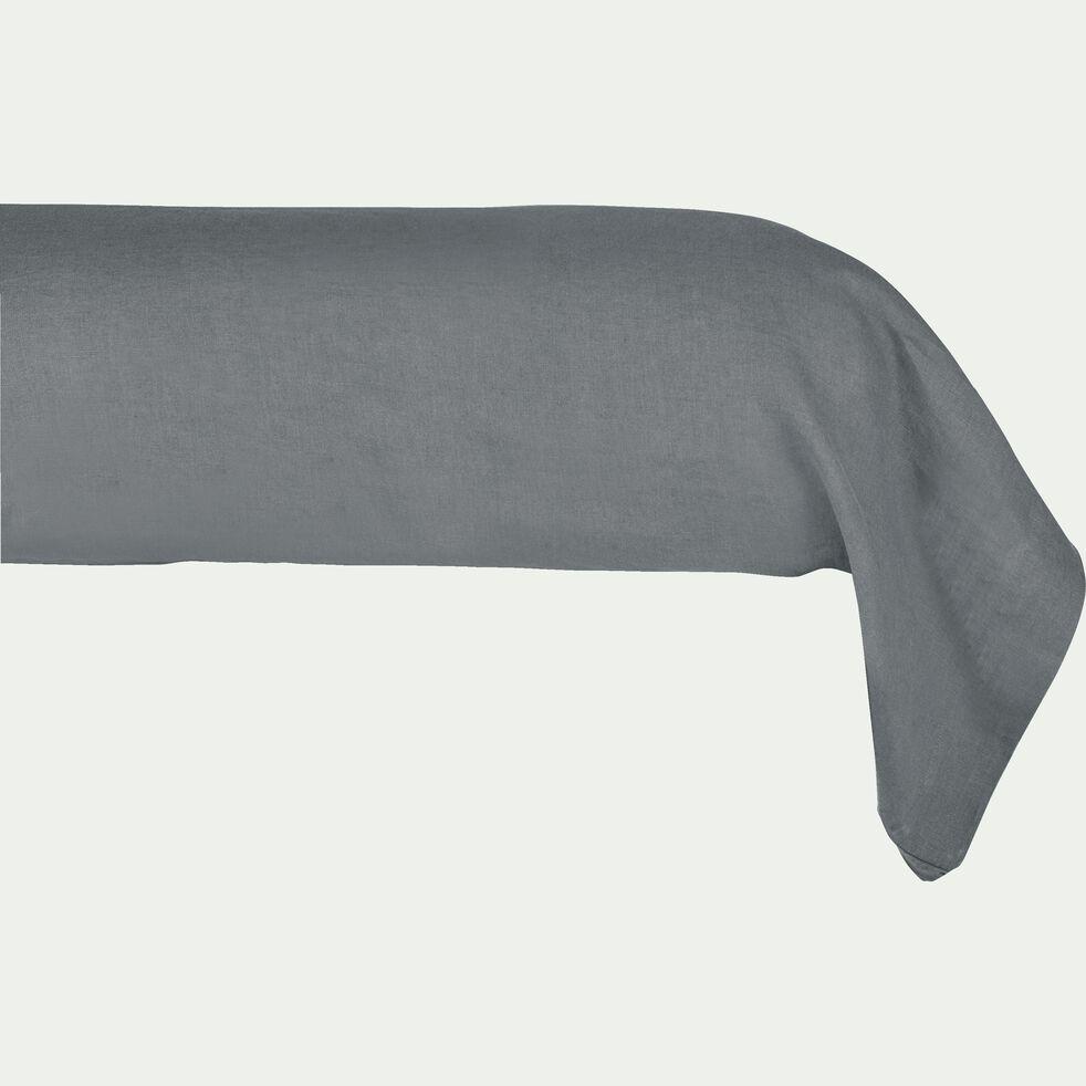 Taie de traversin en lin - gris restanque 45x190cm-VENCE