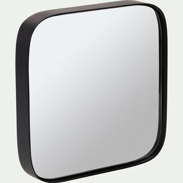 Miroir carré en bois noir L50xH50cm-CARRO