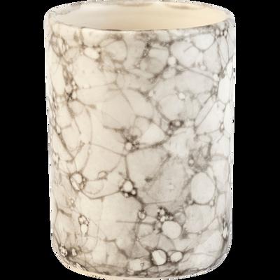 Gobelet en céramique Blanc nervuré-Hanoï