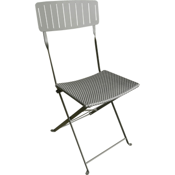 Chaise de jardin pliante gris anthracite-MALTE