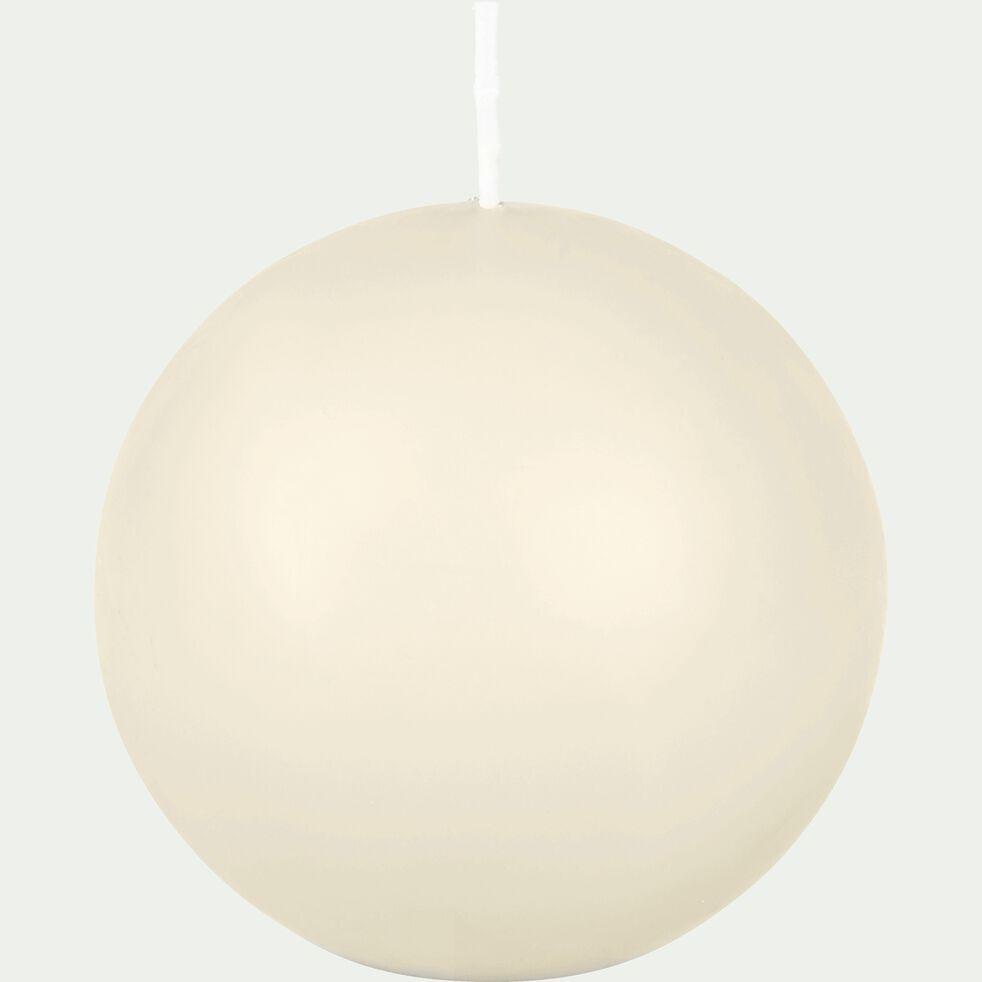 Bougie ronde - beige roucas D10cm-HALBA