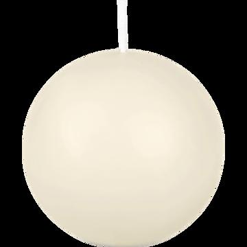Bougie ronde beige roucas D10cm-HALBA