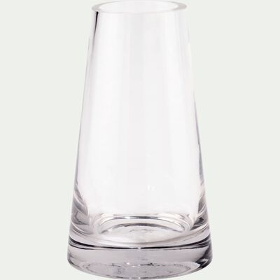 Vase conique en verre - transparent H18,5cm-GALICE