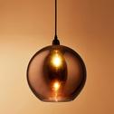 Suspension en verre brun albe H27xD20cm-BRONX