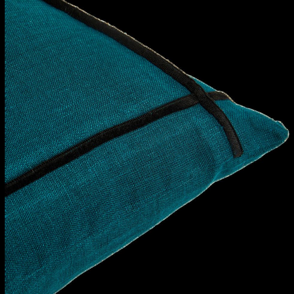 Coussin en lin bleu niolon 40x40 cm-MAROCO