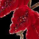Branchage en velours rouge H70cm-LEONOR