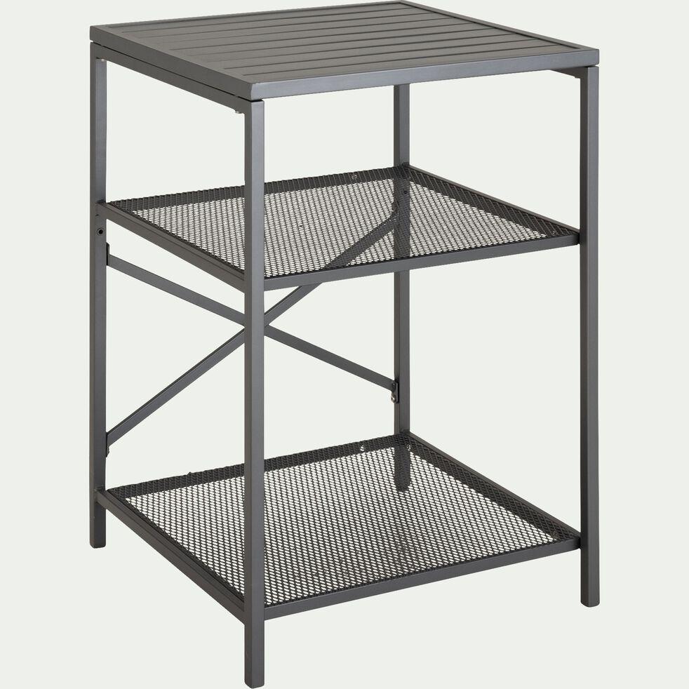 Meuble d'appoint de cuisine extérieur en acier et aluminium - gris-BRAISE