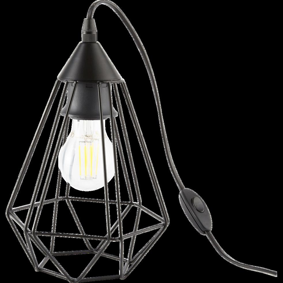 Acier Géométrique Noir Poser 5cm Tarbes Lampe L26 À En QrxhdstC