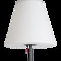 Lampadaire en métal et abat-jour lumineux blancH150cm-STANDY