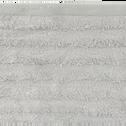 Serviette invité en viscose et coton 30x50cm gris borie-AUBIN
