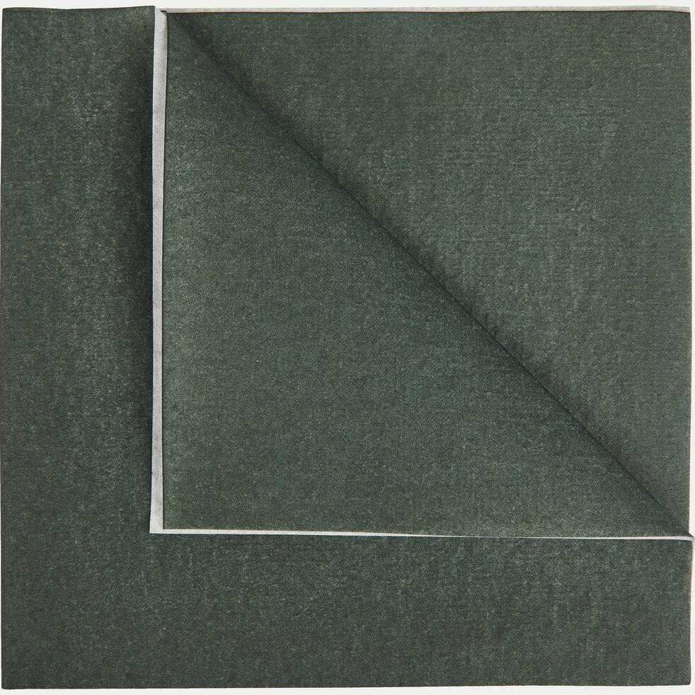 Lot de 20 serviettes en papier vert cèdre 40x40cm-SALERNE
