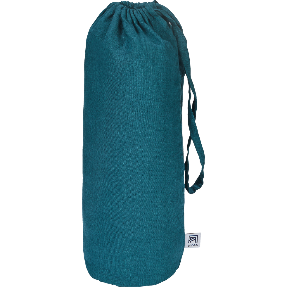 drap housse en lin bleu figuerolles 180x200cm bonnet 28cm vence 180x200 cm catalogue. Black Bedroom Furniture Sets. Home Design Ideas