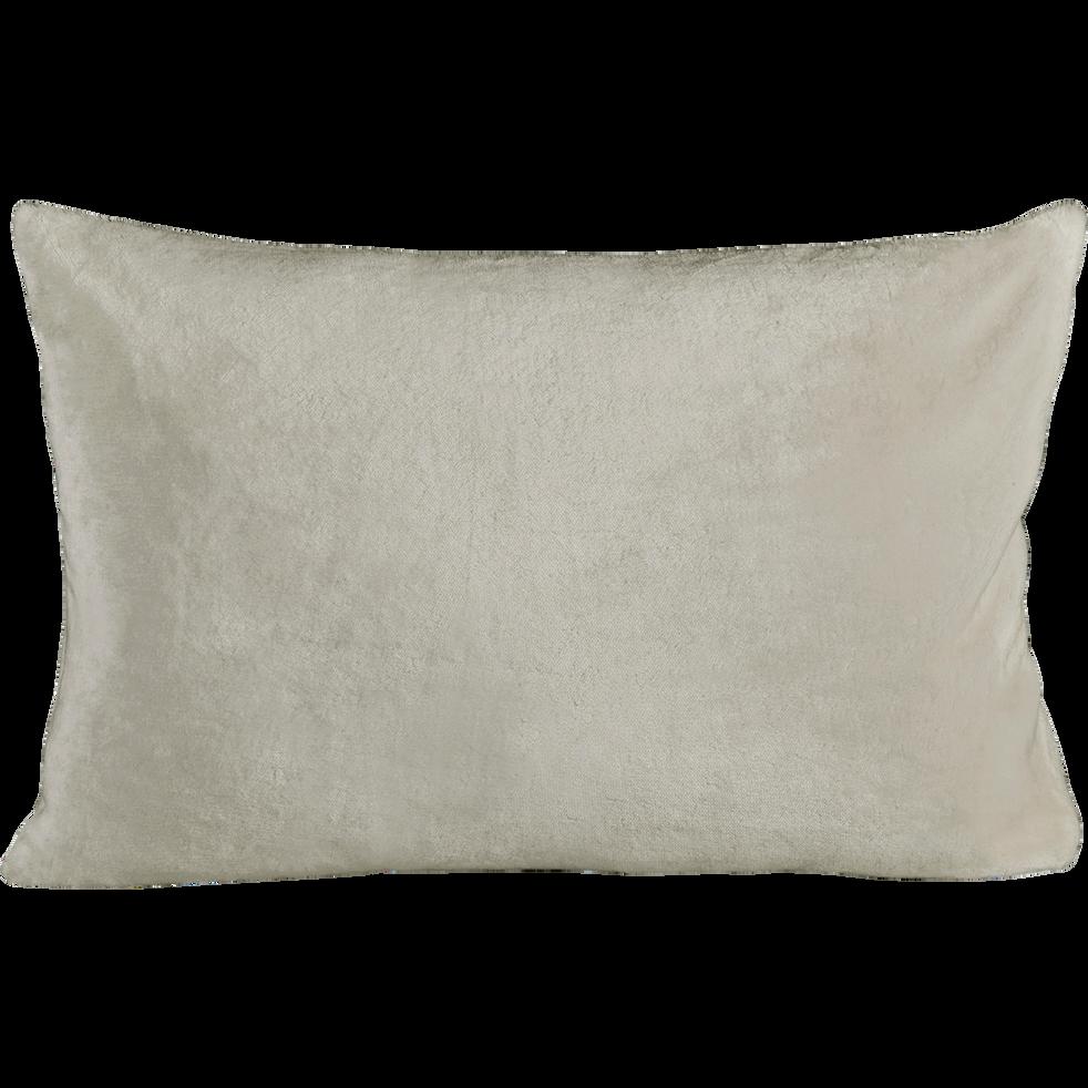 Housse de coussin effet doux beige roucas 40x60cm-ROBIN