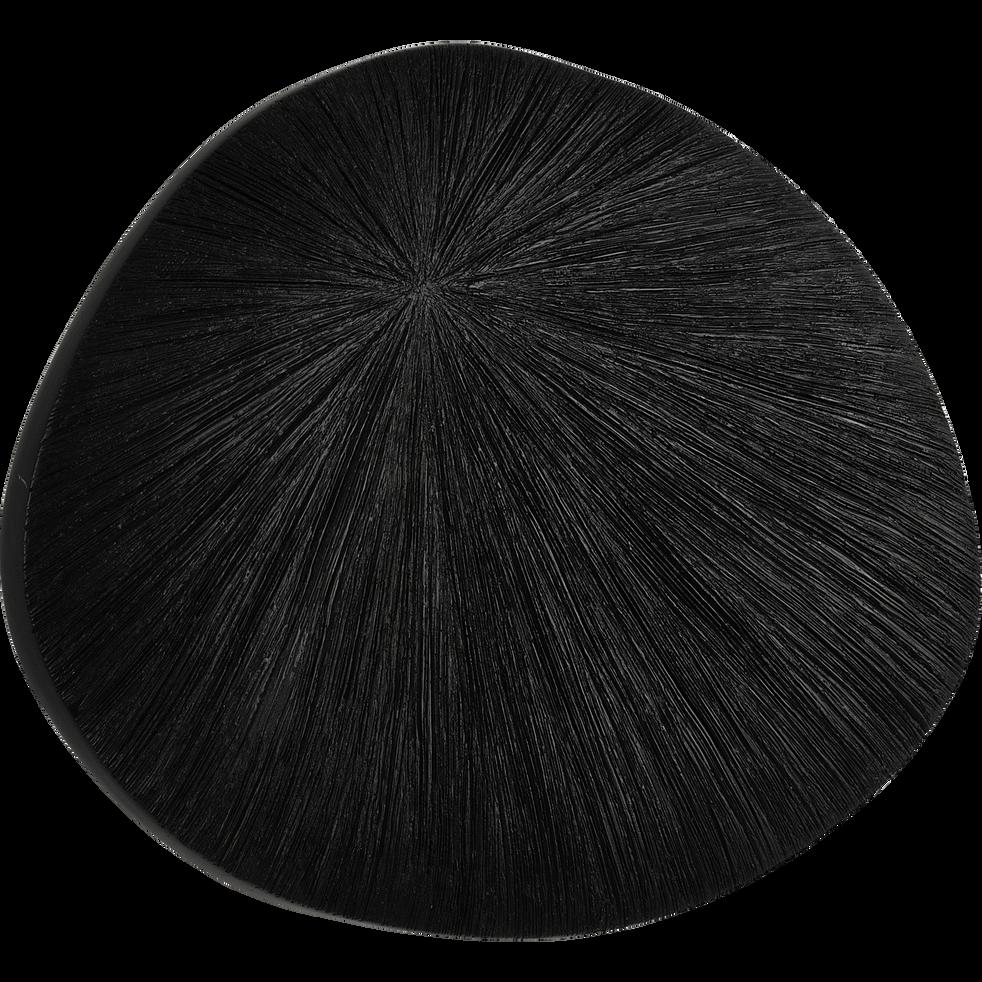 Décoration murale en polyrésine noir 30x41cm-ENZA