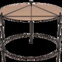 Table basse en acier noir et plateau en verre-NURATA