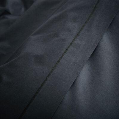Housse de couette unie en coton gris calabrun-CALANQUES