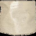 Panier de rangement rond coloris argenté h11cm-ETINCELLE