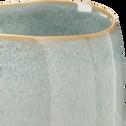 Cache pot bleu D12xH11cm-CEBU