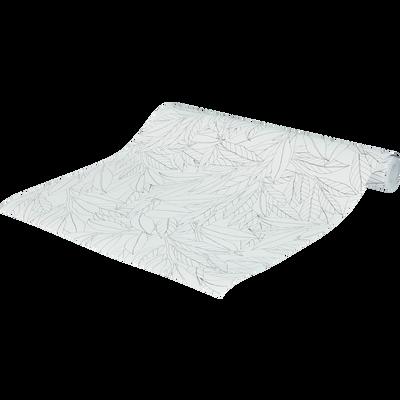 Papier peint intissé motif laurier blanc et noir 53x10.05 cm-LAURIER