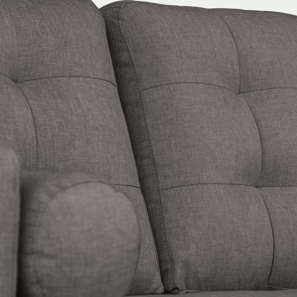 Canapé 3 places fixe en tissu gris restanque-ROMEO