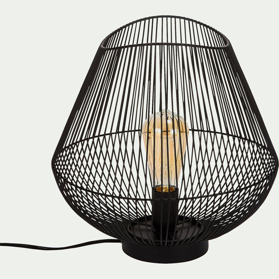 Lampe à poser en métal noir 26x26x28cm-CLAUDINE