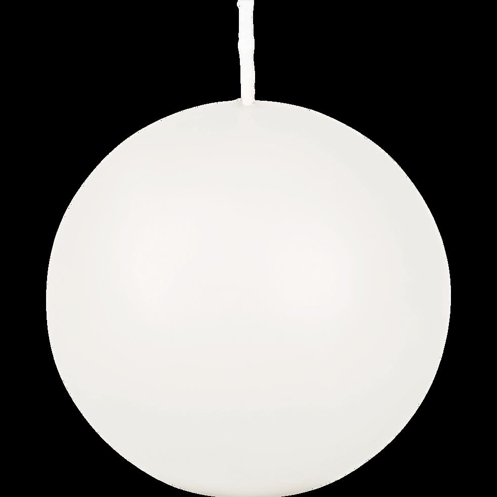 Bougie ronde blanc ventoux D8cm-HALBA