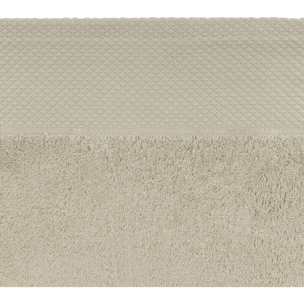 Drap de bain en coton 100x150cm vert olivier-AZUR