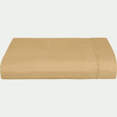 Drap plat en coton - beige nèfle 270x300cm-CALANQUES