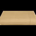Drap plat en coton Beige nèfle 270x300cm-CALANQUES