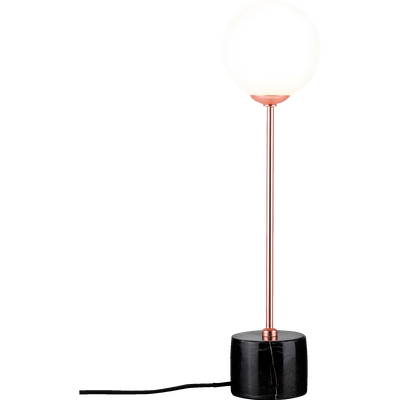 Lampe à poser en métal cuivré et verre H40cm-MOA