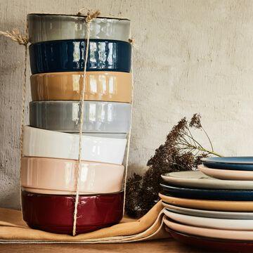 Service de vaisselle en faïence - plusieurs couleurs-LANKA