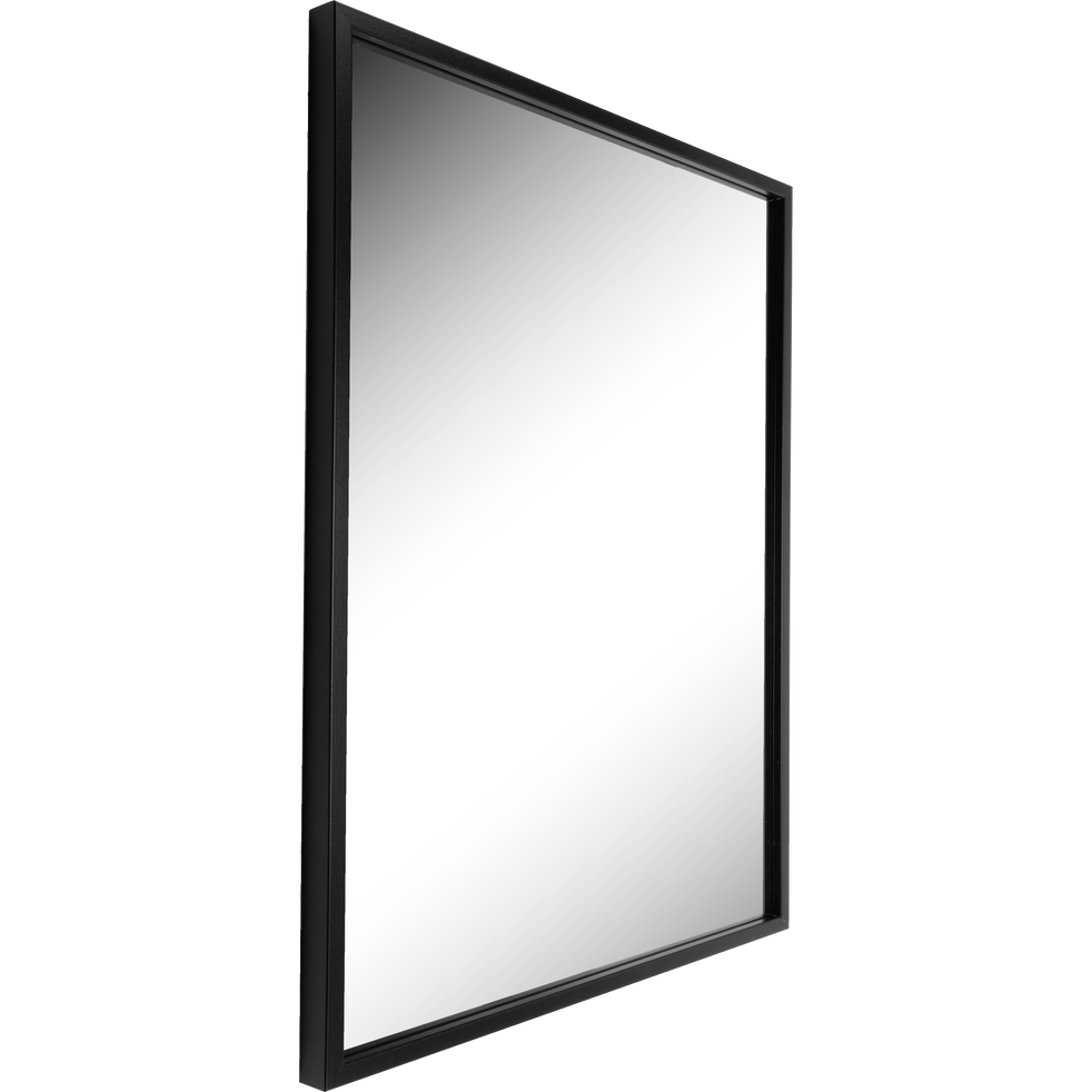 Miroir rectangulaire noir 50x70cm hapa catalogue storefront alin a alinea for Miroir rectangulaire noir