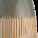 Vase en céramique beige H32,5cm-AYDAR