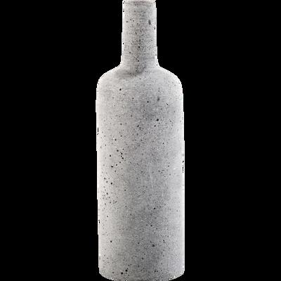 Vase bouteille effet béton H24cm-CALCIS