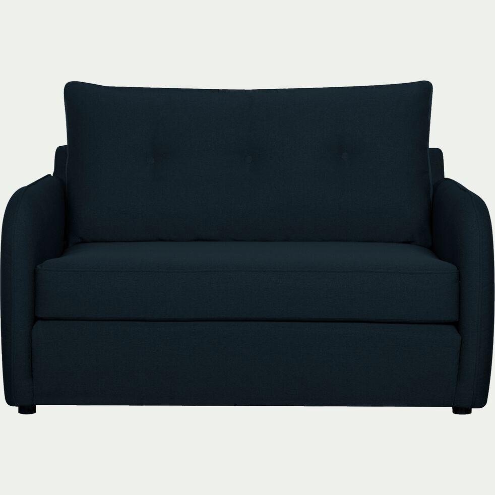 Canapé 2 places convertible déplimousse en tissu bleu myrte-VINYL