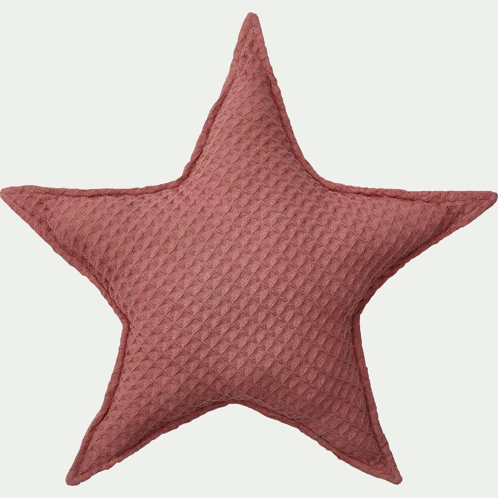 Coussin forme étoile 45x45cm - rose-Aster