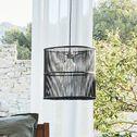 Suspension cylindrique en bambou noir D39xH37cm-FIGANIERES