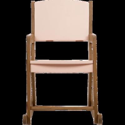 Rocking-chair en acacia pour enfant rose sable-RAPHAEL