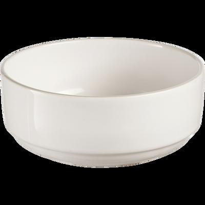Assiette creuse en faïence blanc ventoux D16cm-LANKA