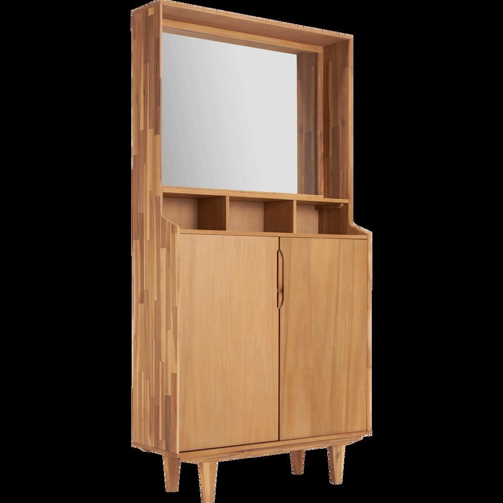 Meuble Entrée Alinea : meuble d 39 entr e en acacia isac meubles chaussures ~ Teatrodelosmanantiales.com Idées de Décoration