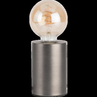 Lampe à poser sensitive grise H12,5xD9cm-PRAO