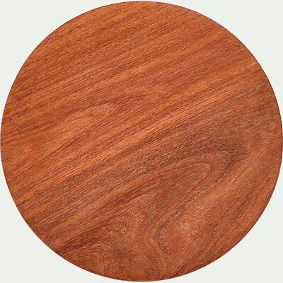 Dessous de plat en bois d'acacia D20cm - marron-LAUSSO