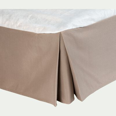 Cache-sommier taupe 32cm - 90x200cm-OPALINE