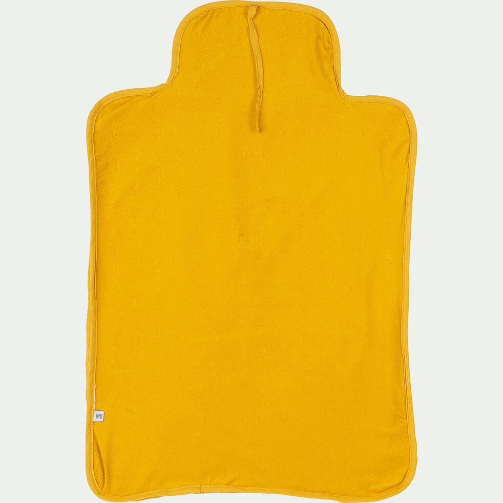 Matelas à langer bébé en coton bio avec broderie - jaune moutarde-Nuage