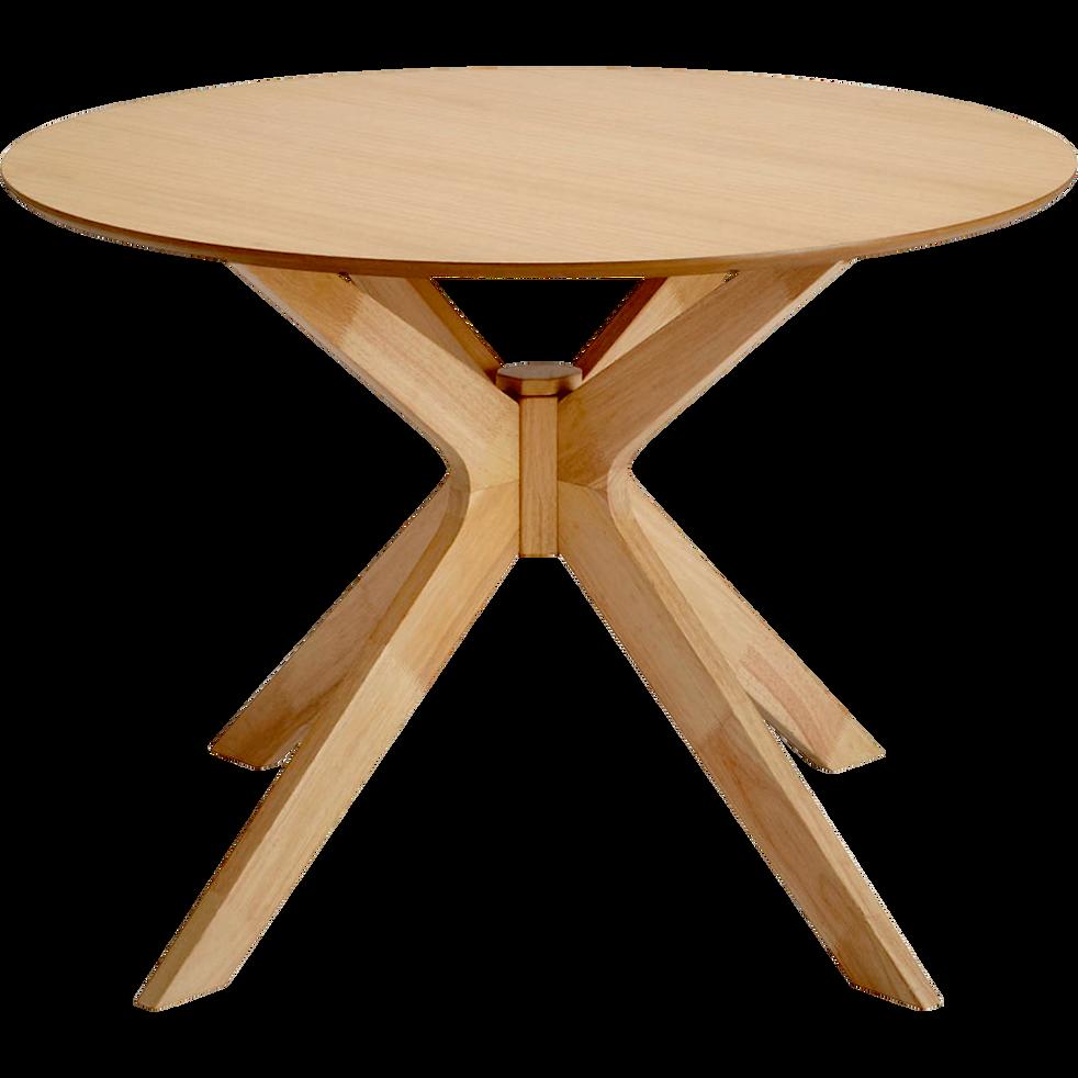 table de repas ronde 5 places leandre 105x105cm. Black Bedroom Furniture Sets. Home Design Ideas