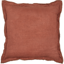 Coussin à volants en lin rose 45x45cm-VENCE
